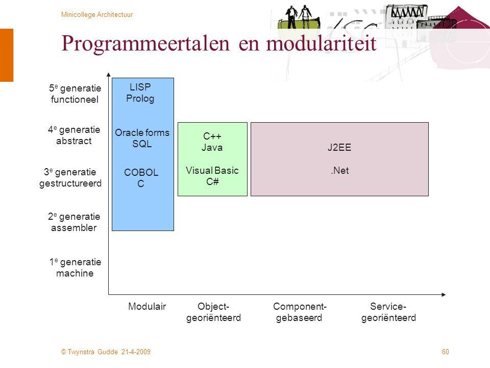 Programmeertalen en modulariteit