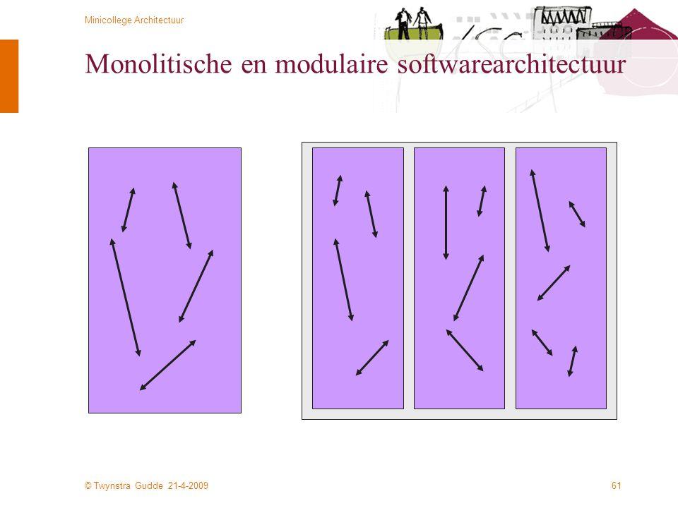 Monolitische en modulaire softwarearchitectuur