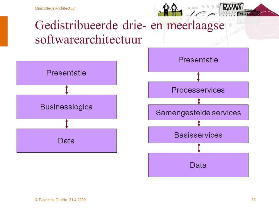 Gedistribueerde drie- en meerlaagse softwarearchitectuur