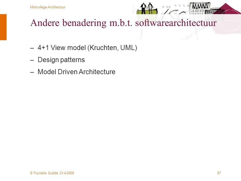 Andere benadering m.b.t. softwarearchitectuur