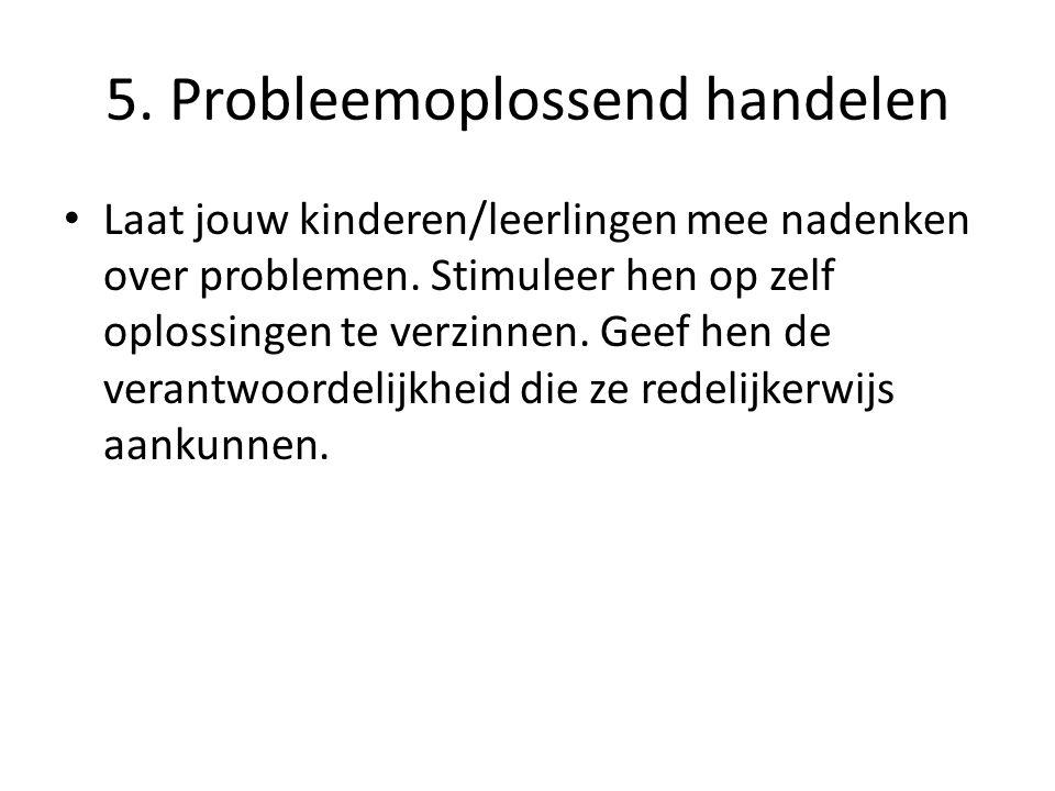 5. Probleemoplossend handelen