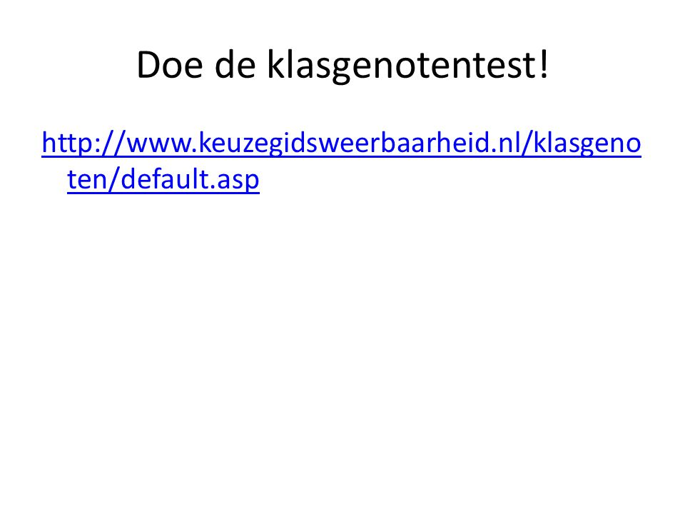 Doe de klasgenotentest!