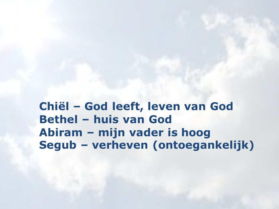 Chiël – God leeft, leven van God