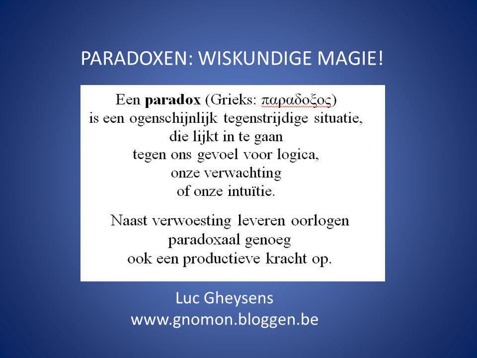 PARADOXEN: WISKUNDIGE MAGIE!