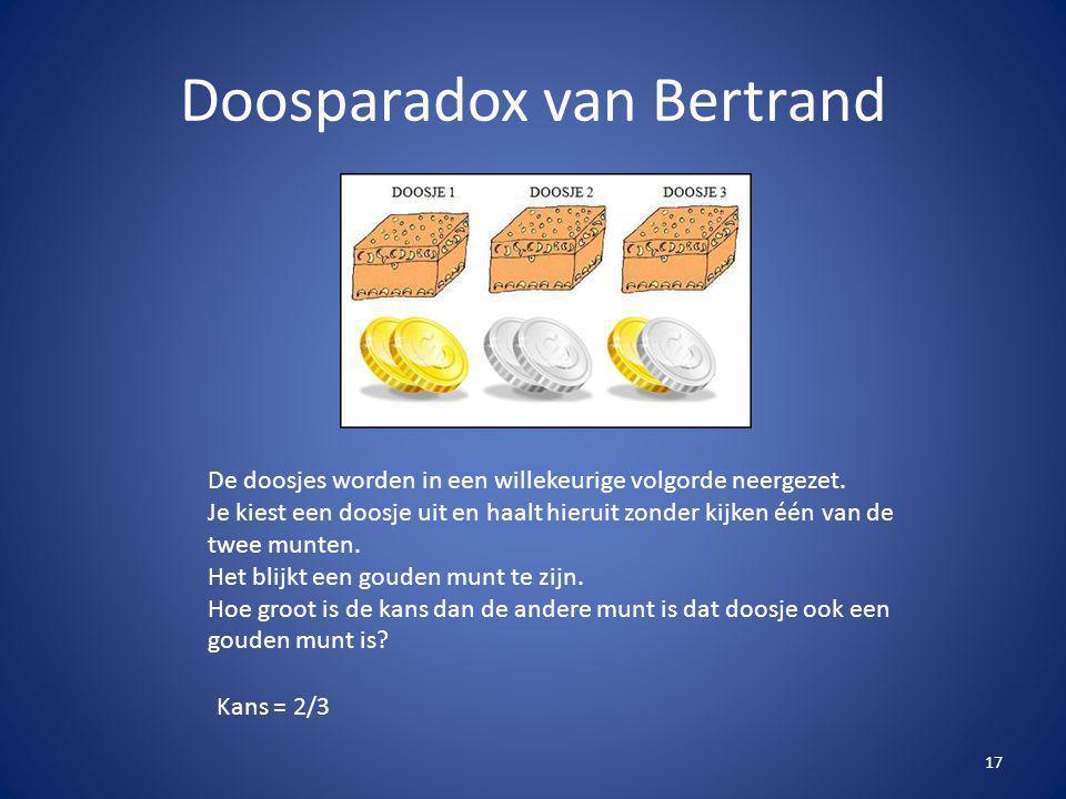 Doosparadox van Bertrand