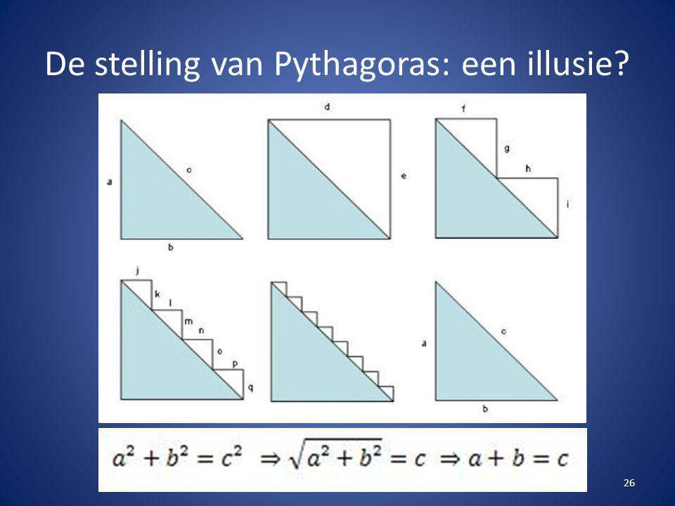 De stelling van Pythagoras: een illusie