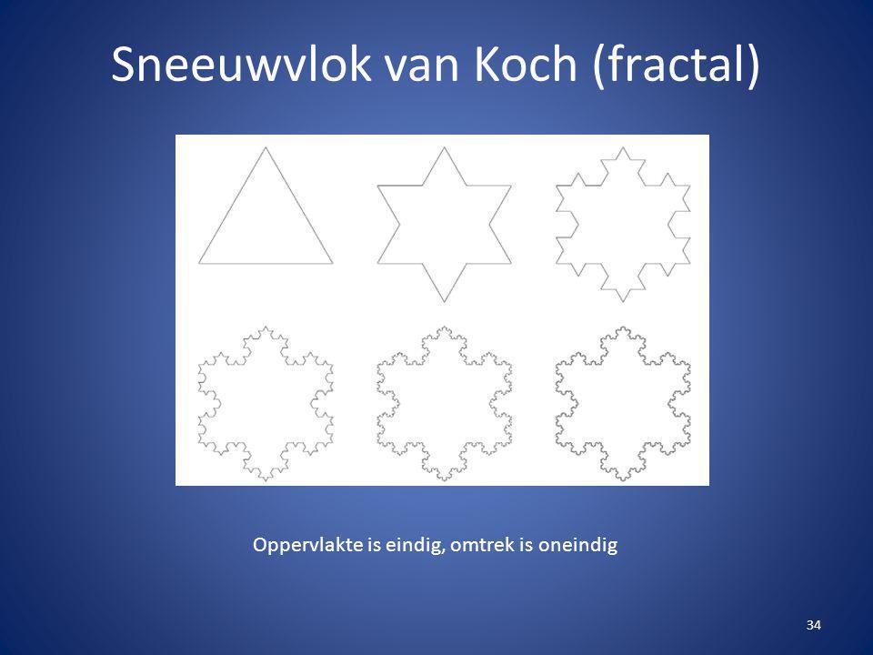 Sneeuwvlok van Koch (fractal)