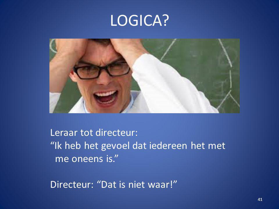 LOGICA Leraar tot directeur: