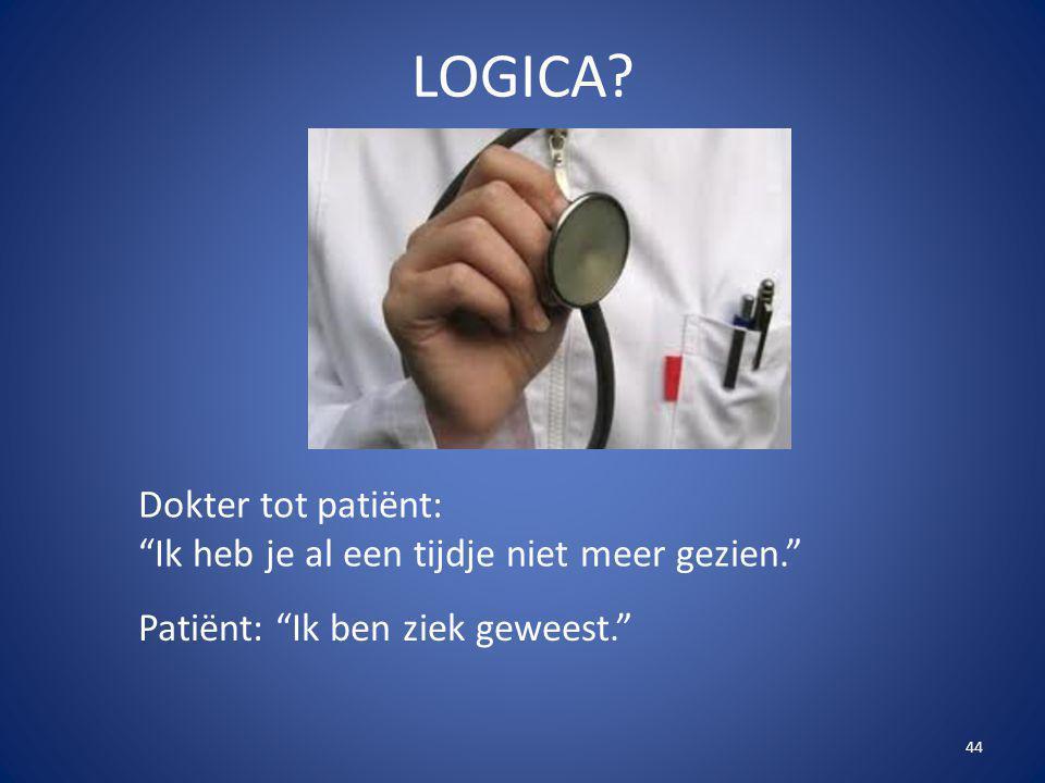 LOGICA Dokter tot patiënt: