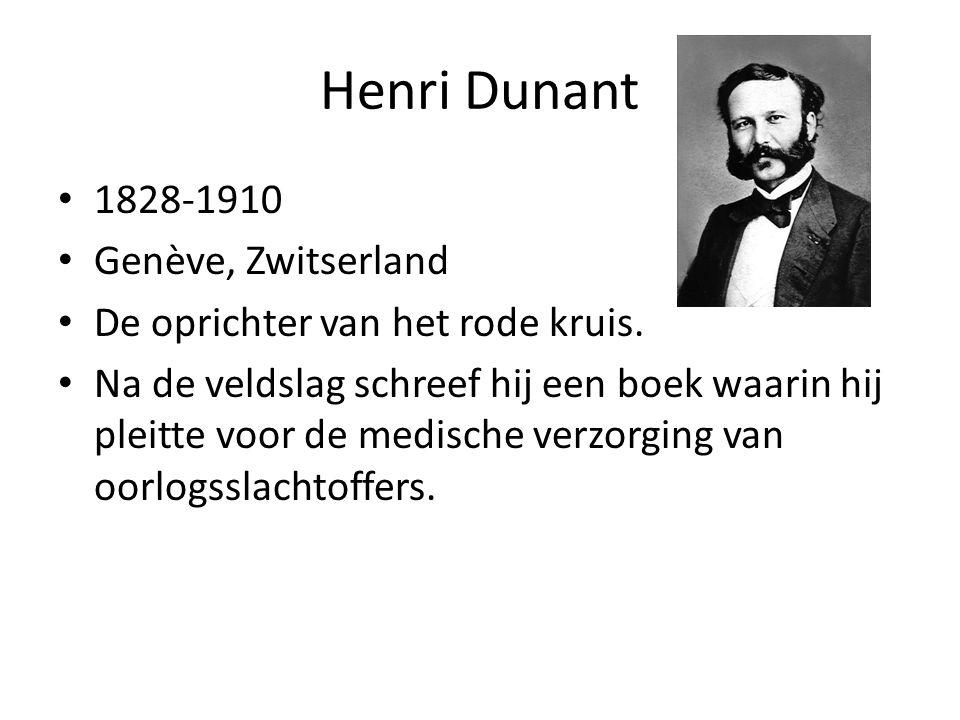 Henri Dunant 1828-1910 Genève, Zwitserland