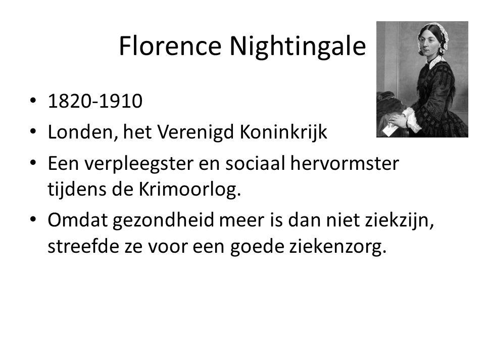 Florence Nightingale 1820-1910 Londen, het Verenigd Koninkrijk