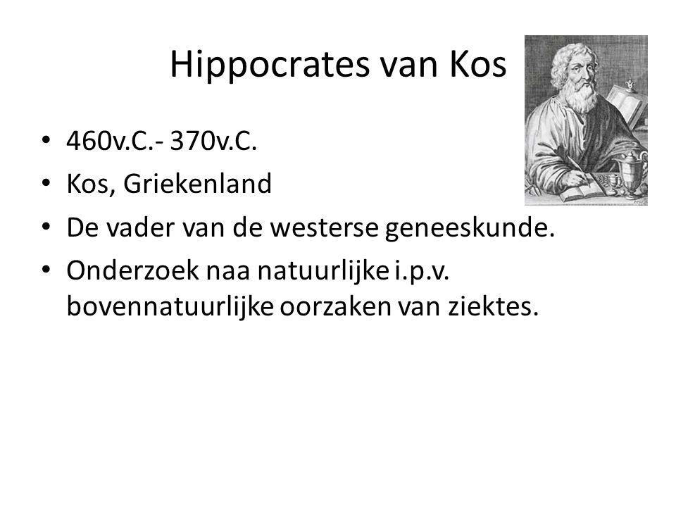 Hippocrates van Kos 460v.C.- 370v.C. Kos, Griekenland