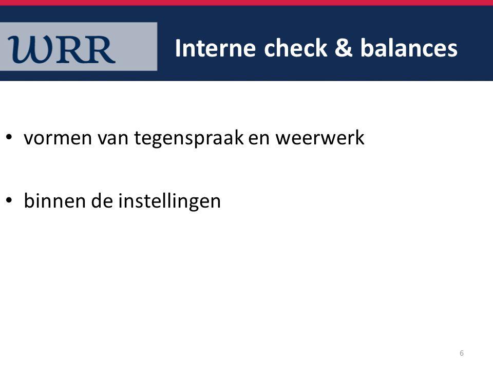 Interne check & balances
