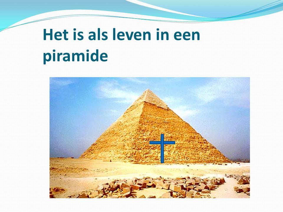 Het is als leven in een piramide