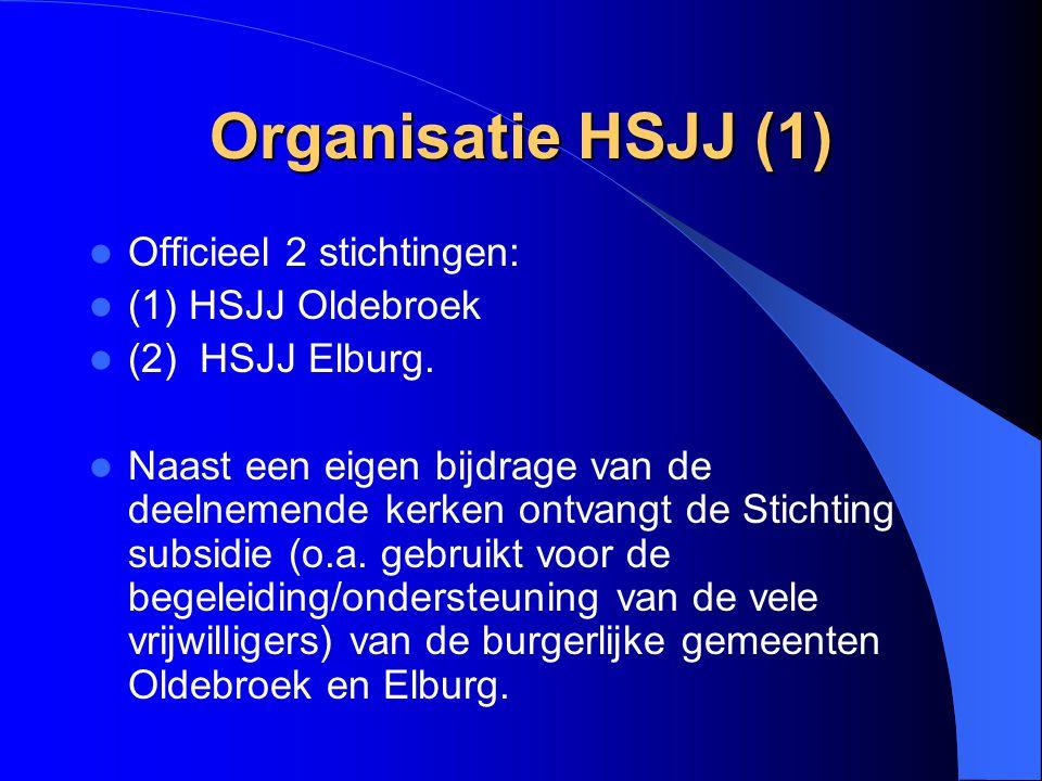 Organisatie HSJJ (1) Officieel 2 stichtingen: (1) HSJJ Oldebroek