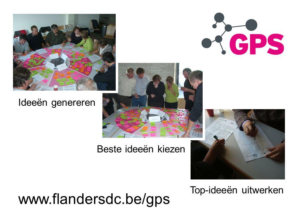 www.flandersdc.be/gps Ideeën genereren Beste ideeën kiezen