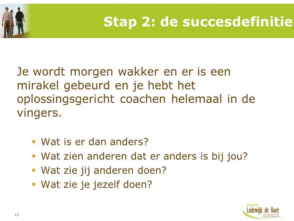 Stap 2: de succesdefinitie