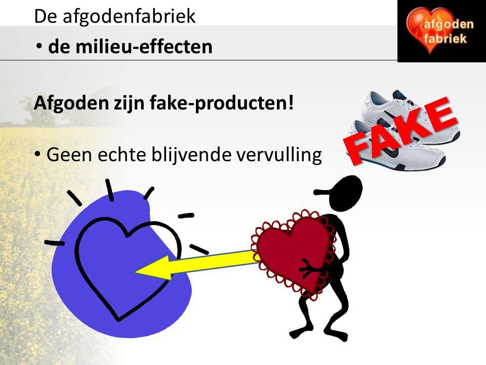 FAKE De afgodenfabriek de milieu-effecten Afgoden zijn fake-producten!