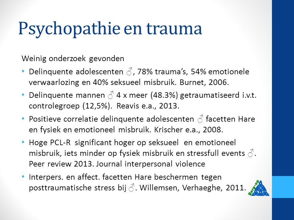 Psychopathie en trauma