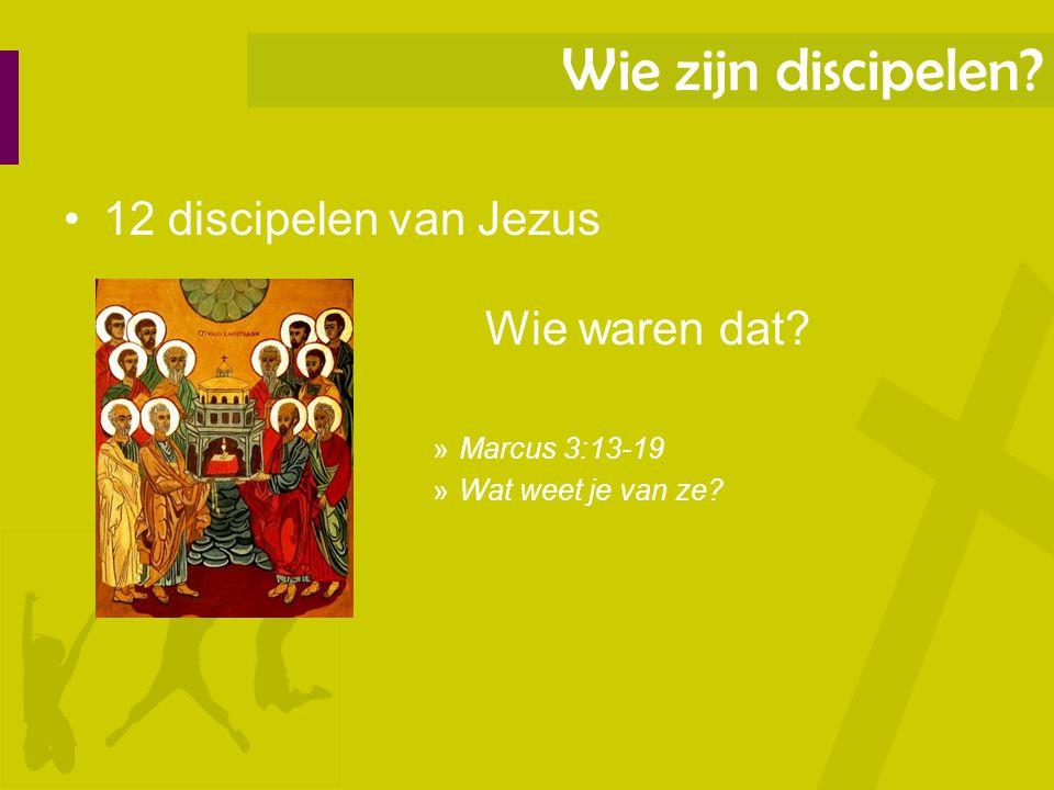 Wie zijn discipelen 12 discipelen van Jezus Marcus 3:13-19