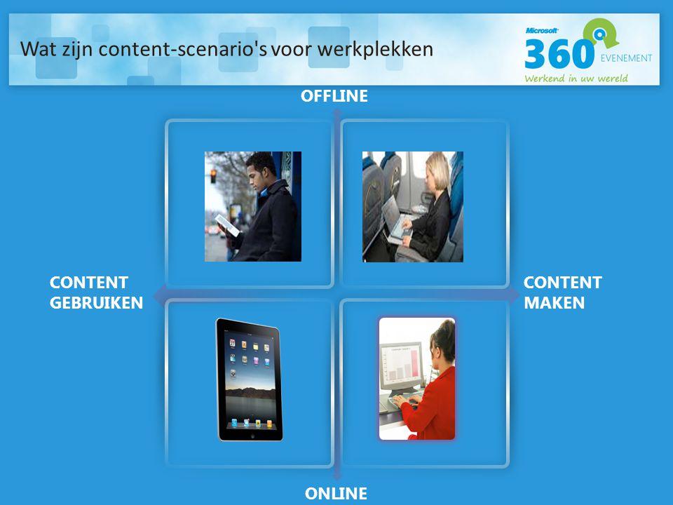 Wat zijn content-scenario s voor werkplekken