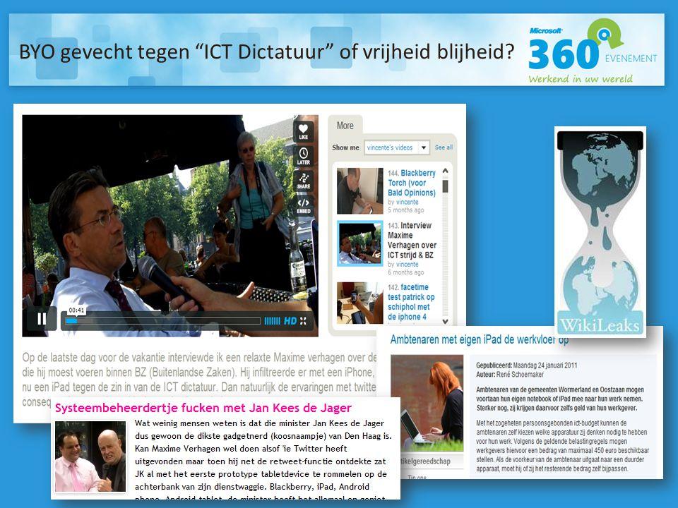 BYO gevecht tegen ICT Dictatuur of vrijheid blijheid