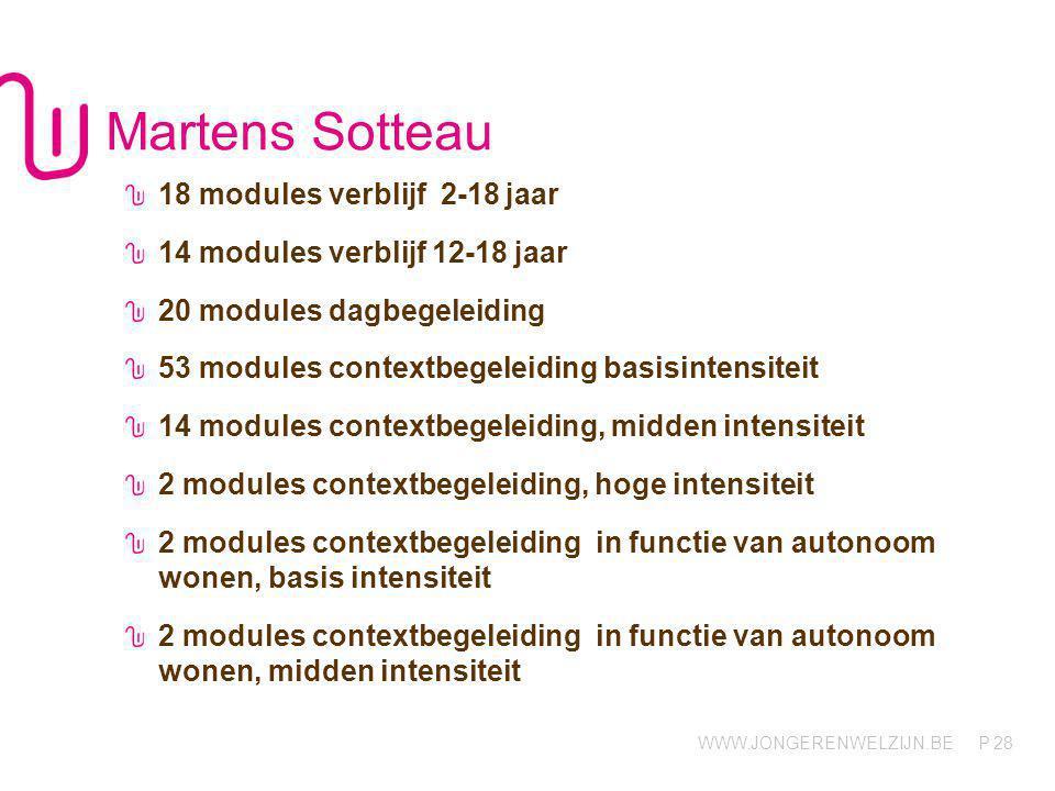 Martens Sotteau 18 modules verblijf 2-18 jaar