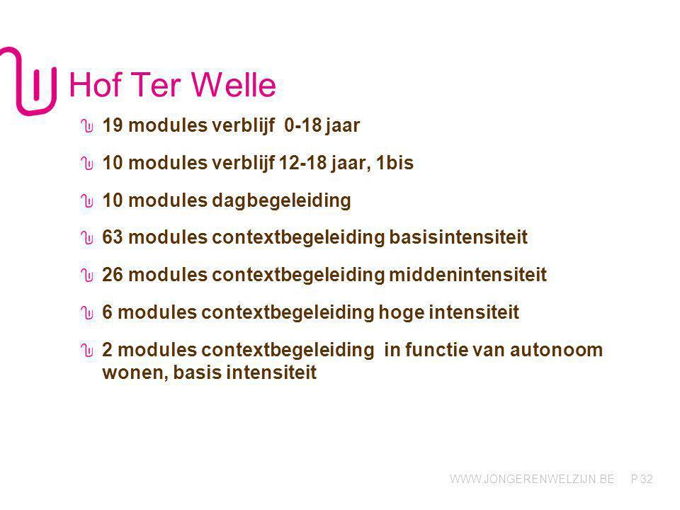 Hof Ter Welle 19 modules verblijf 0-18 jaar