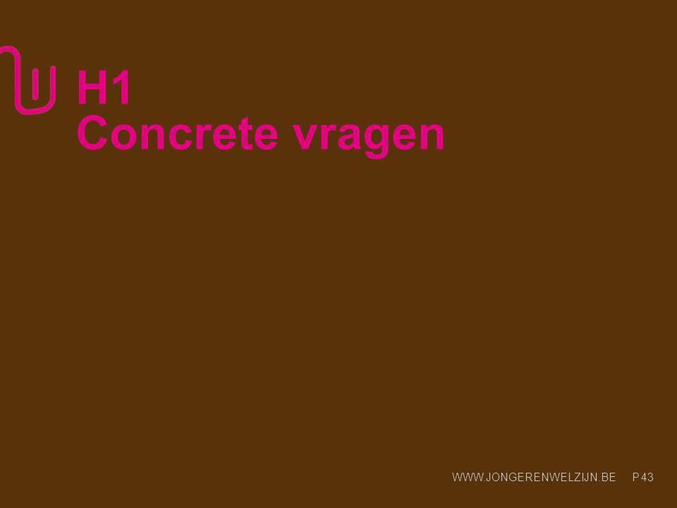 H1 Concrete vragen