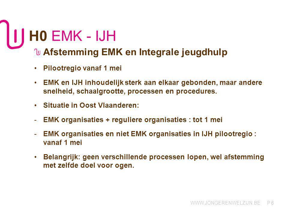 H0 EMK - IJH Afstemming EMK en Integrale jeugdhulp