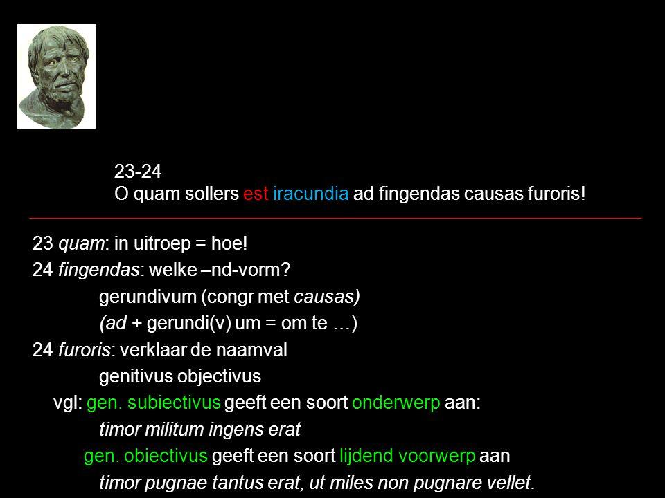 23-24 O quam sollers est iracundia ad fingendas causas furoris!