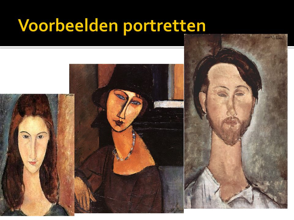 Voorbeelden portretten