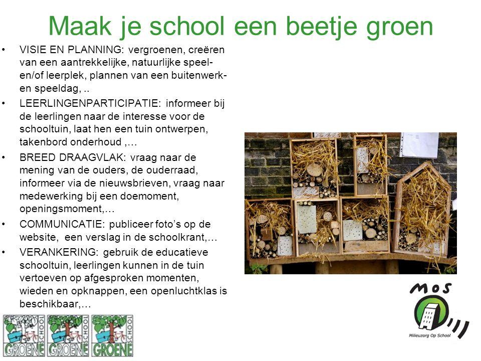 Maak je school een beetje groen