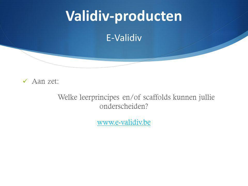 Validiv-producten E-Validiv