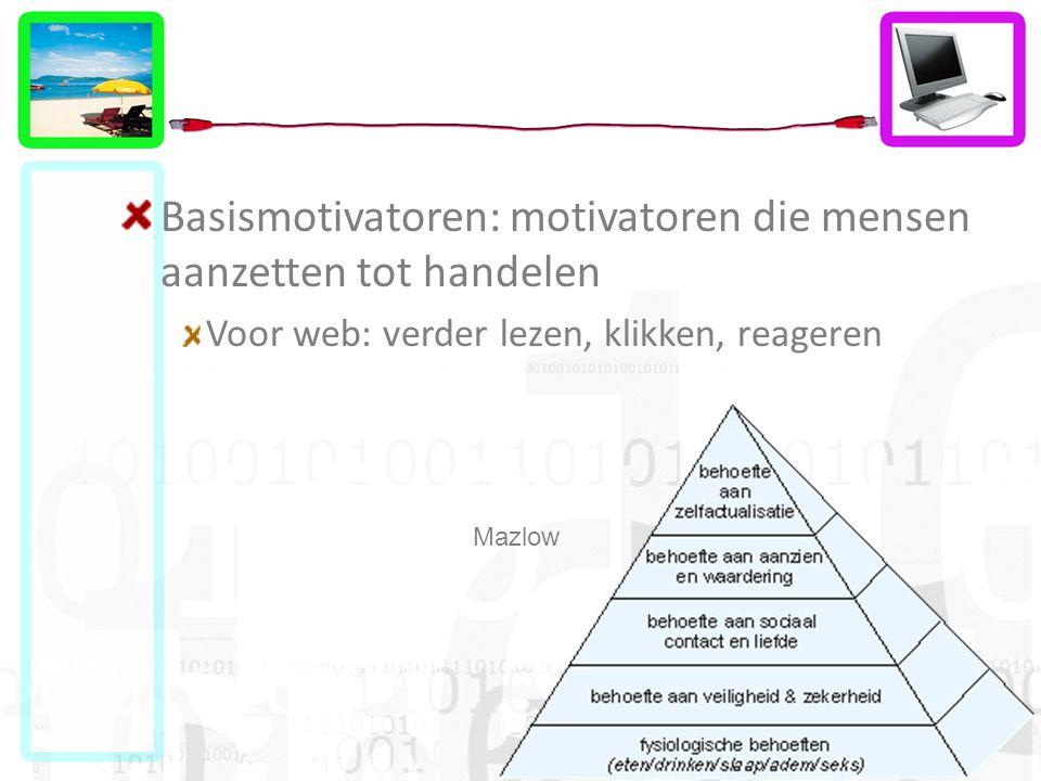 Basismotivatoren: motivatoren die mensen aanzetten tot handelen