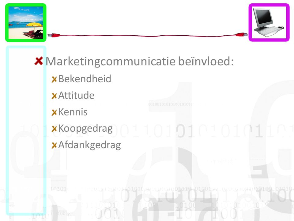 Marketingcommunicatie beïnvloed: