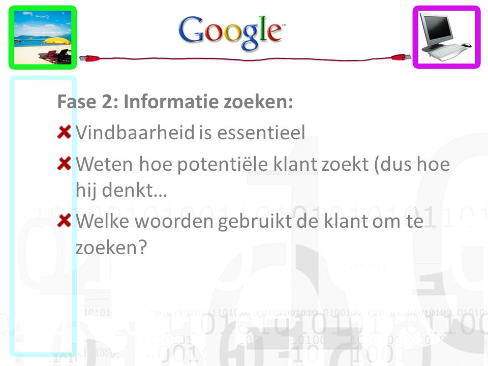 Fase 2: Informatie zoeken: Vindbaarheid is essentieel