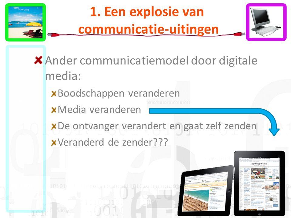 1. Een explosie van communicatie-uitingen