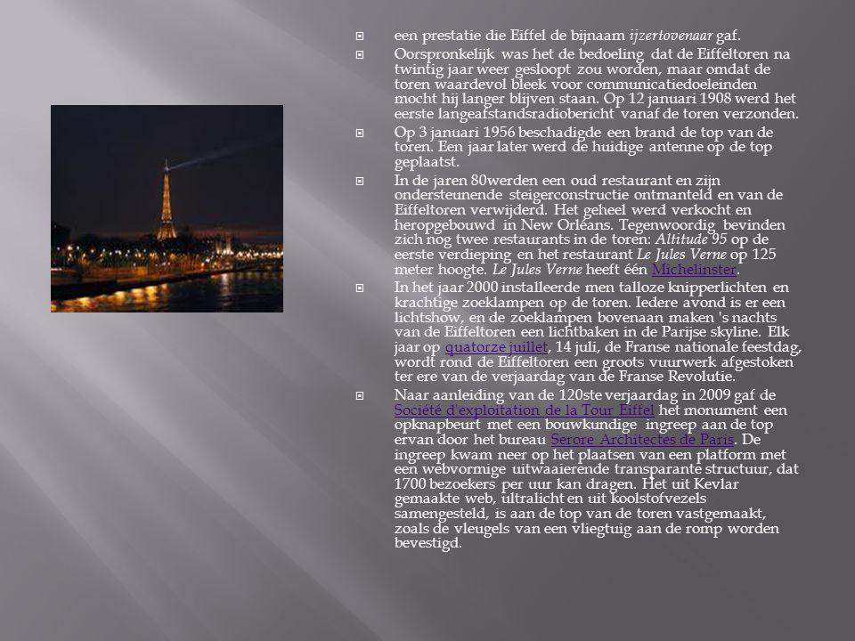 een prestatie die Eiffel de bijnaam ijzertovenaar gaf.