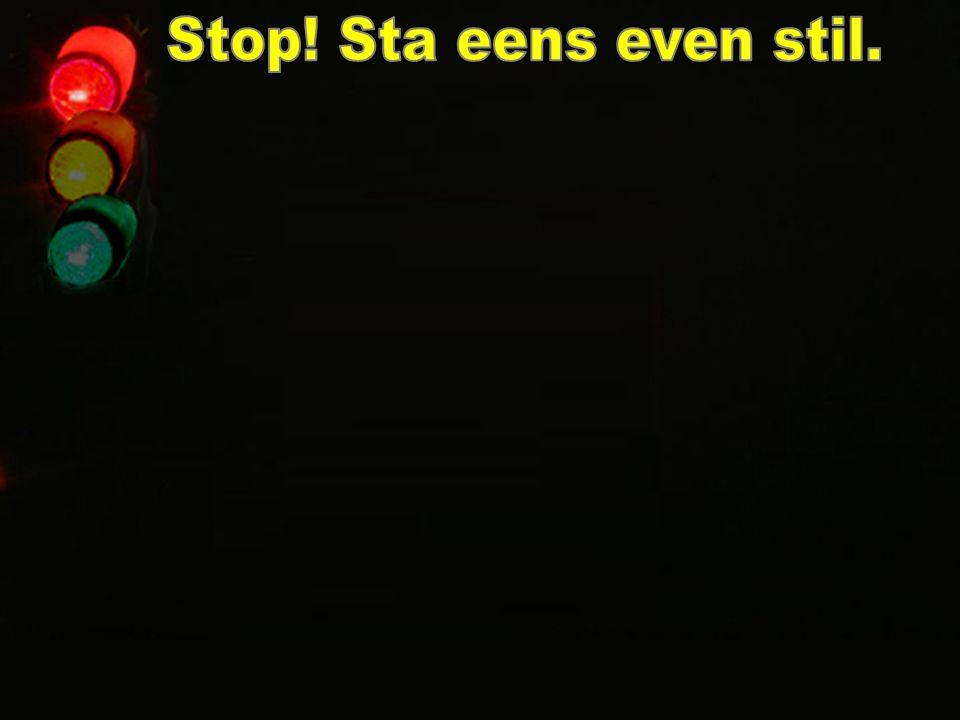 Stop! Sta eens even stil.