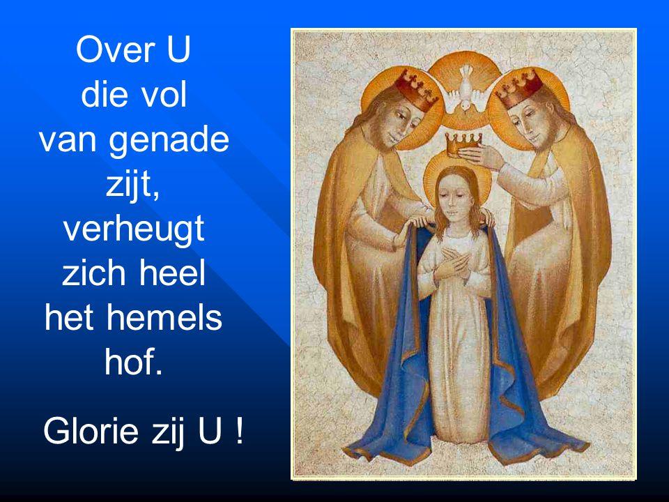 Over U die vol van genade zijt, verheugt zich heel het hemels hof.