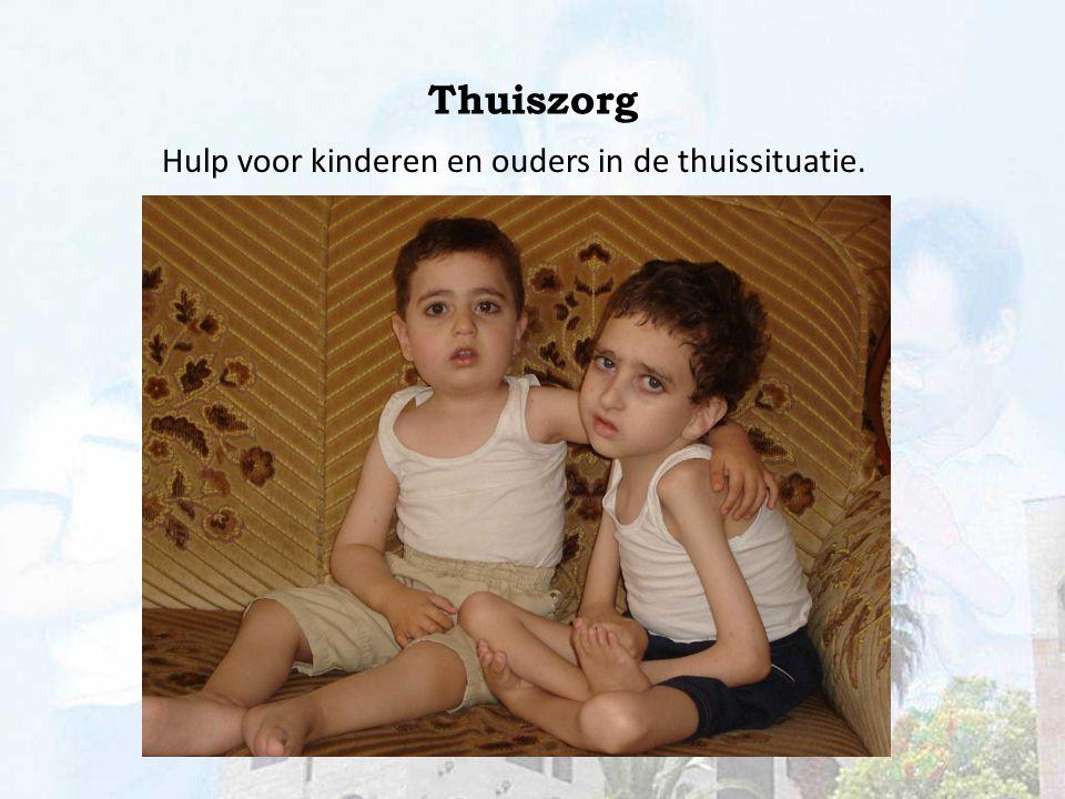 Thuiszorg Hulp voor kinderen en ouders in de thuissituatie.