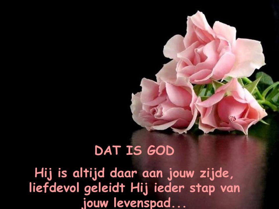 DAT IS GOD Hij is altijd daar aan jouw zijde, liefdevol geleidt Hij ieder stap van jouw levenspad...