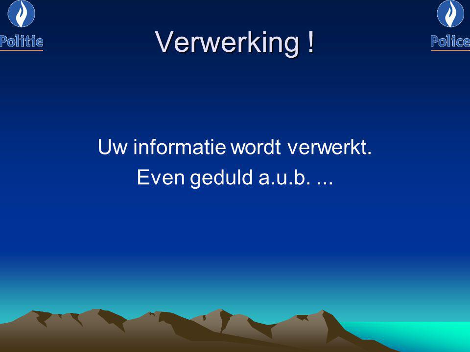 Uw informatie wordt verwerkt.