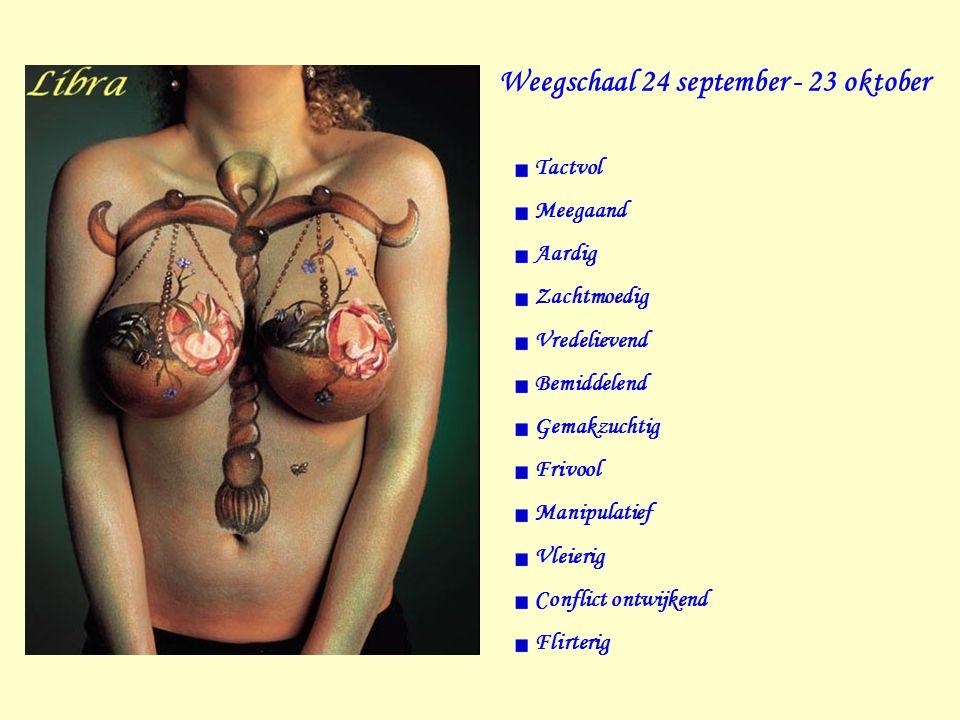 Weegschaal 24 september - 23 oktober