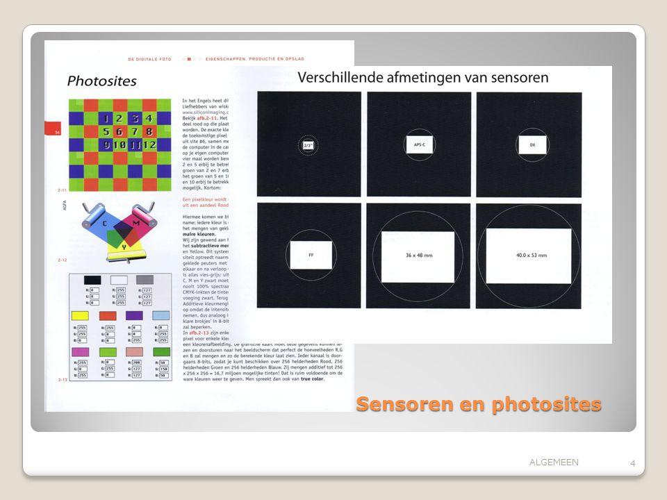 Sensoren en photosites