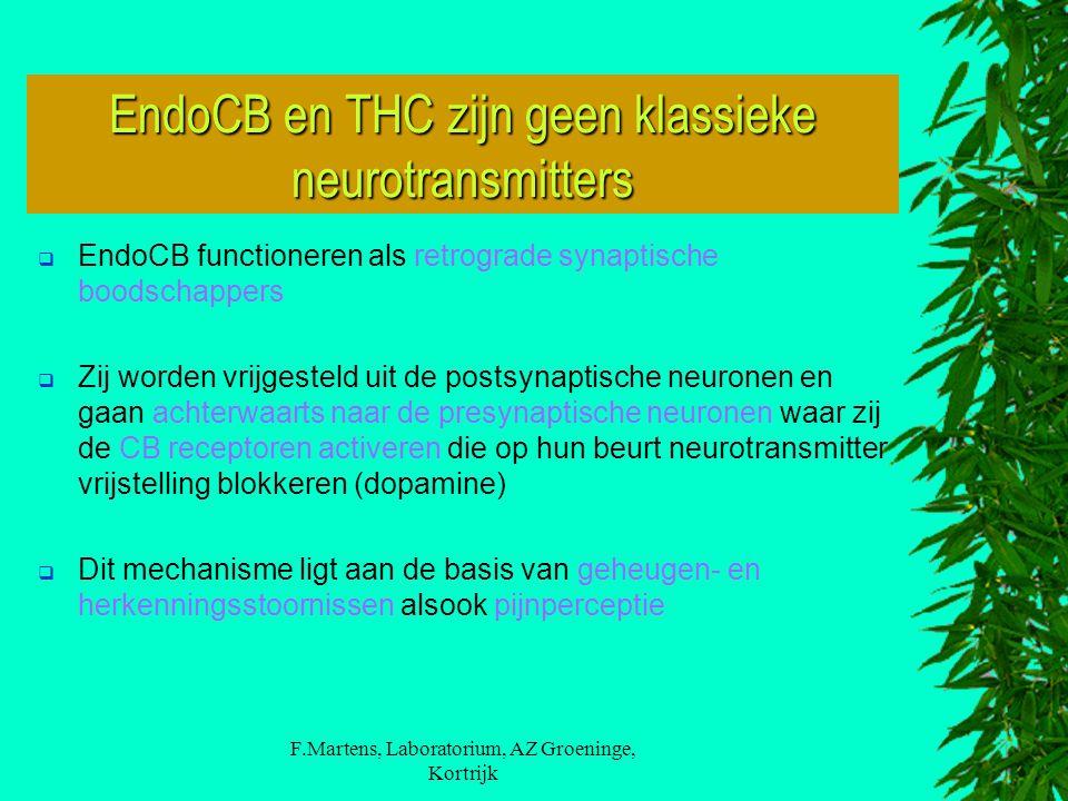 EndoCB en THC zijn geen klassieke neurotransmitters