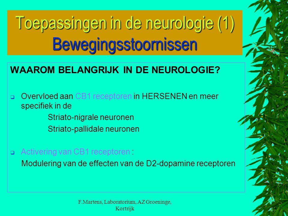 Toepassingen in de neurologie (1) Bewegingsstoornissen