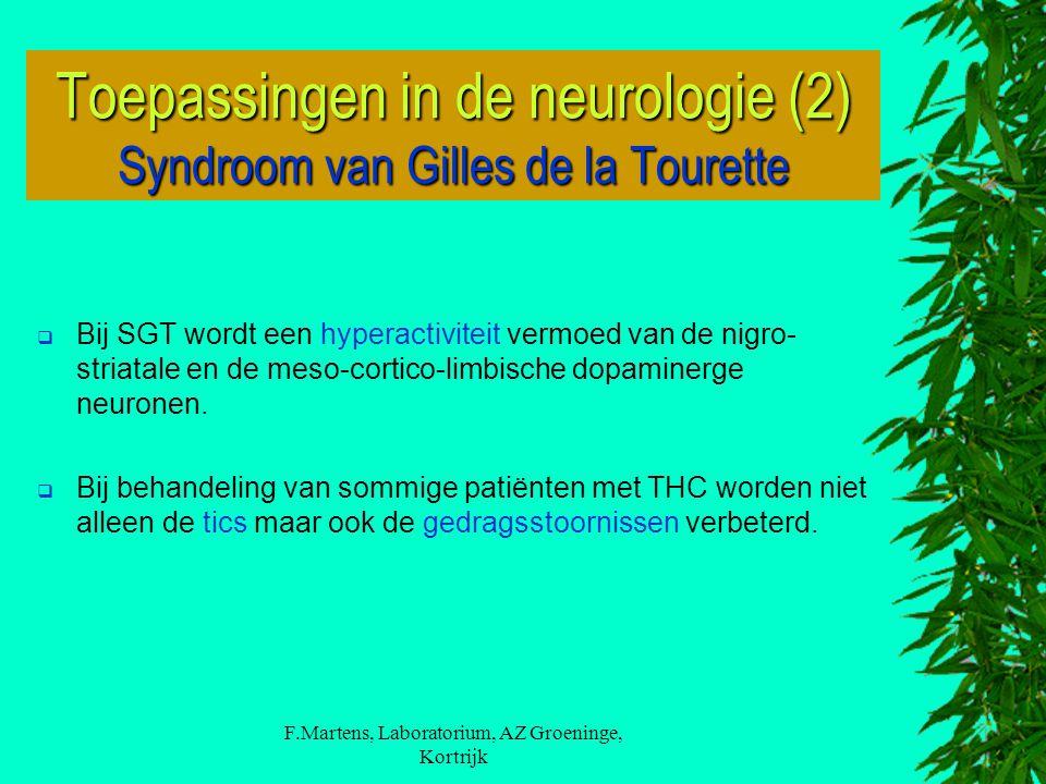 Toepassingen in de neurologie (2) Syndroom van Gilles de la Tourette