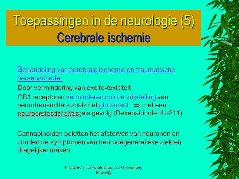 Toepassingen in de neurologie (5) Cerebrale ischemie